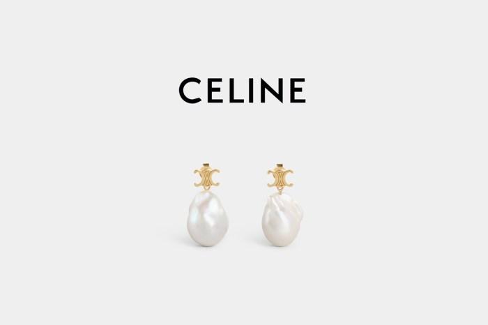 脫俗優雅,在 CELINE 尋覓到一對絕美的 Triomphe 珍珠耳環!