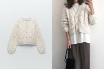 Zara 新上架法式復古針織外套,秒成日本嬌小女生的必敗單品!