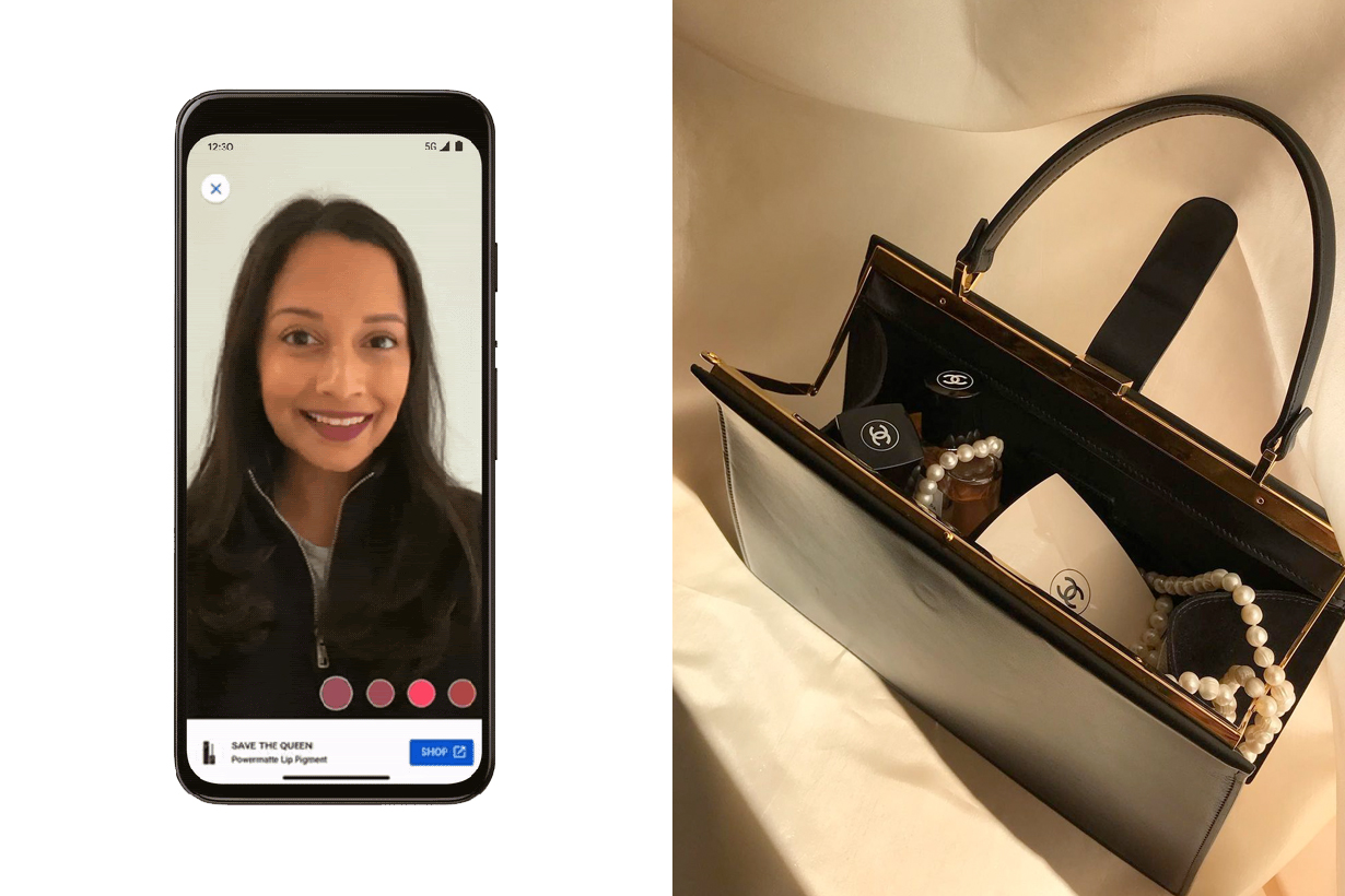 google AR makeup try on colors modiface filter