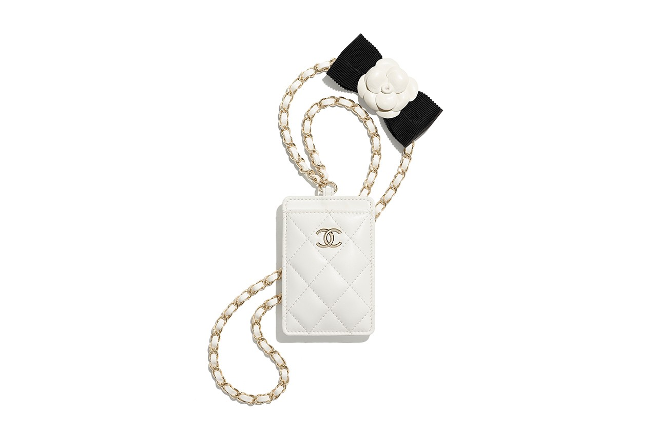 chanel 2021 ss small leather goods mini bags card holders tweed clutch release