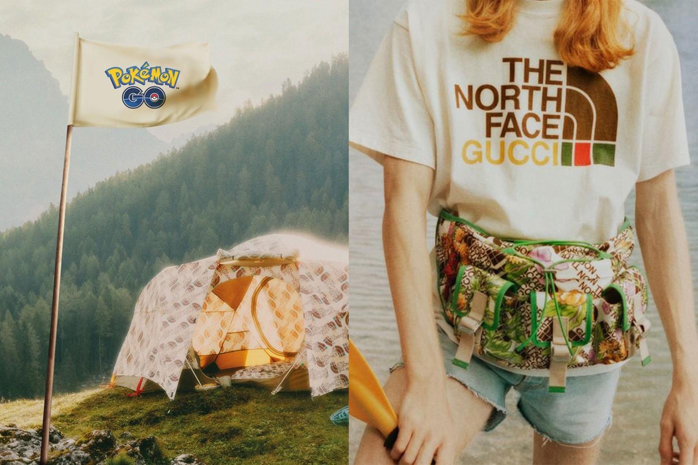 gucci the north face pokemon go collaboration apparel accessories teaser info 2020