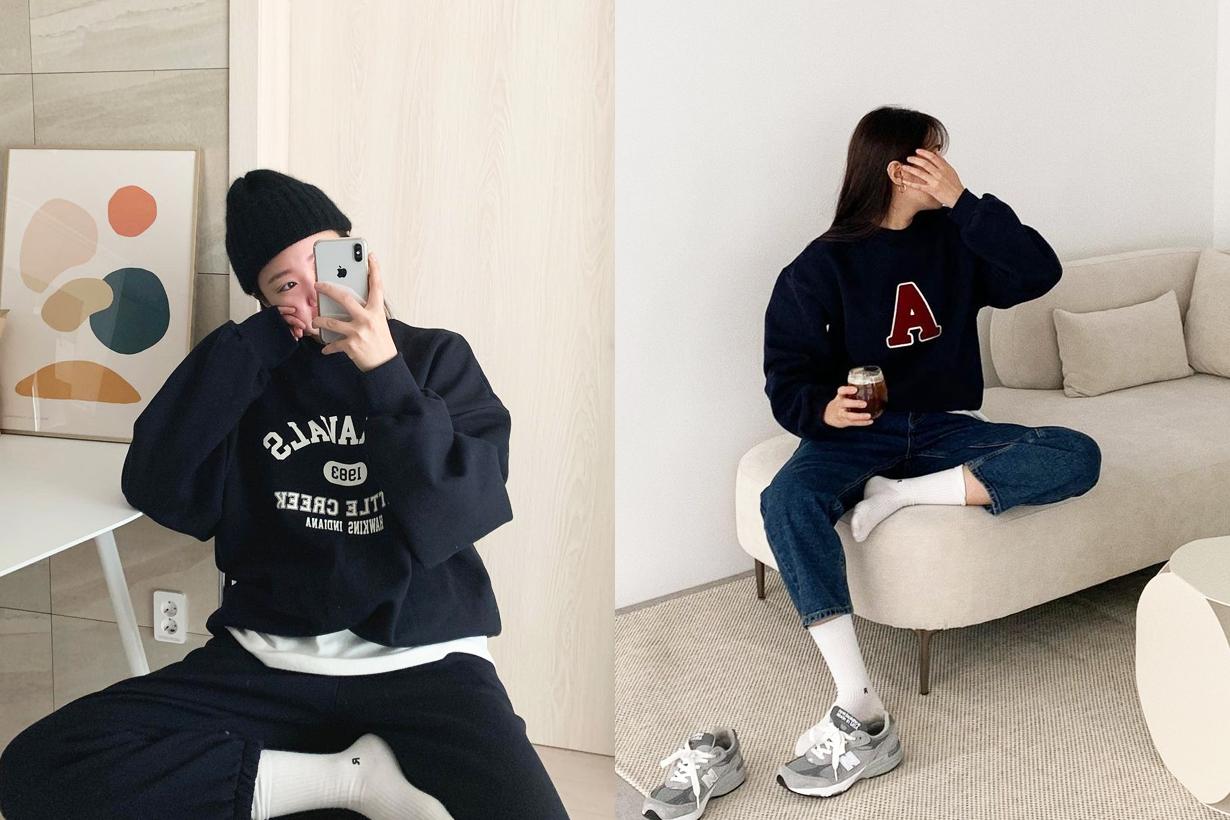 Korean Girls Sweatshirt Sweater Hoodies Styling tips fashion trends 2020 fall winter fashion items