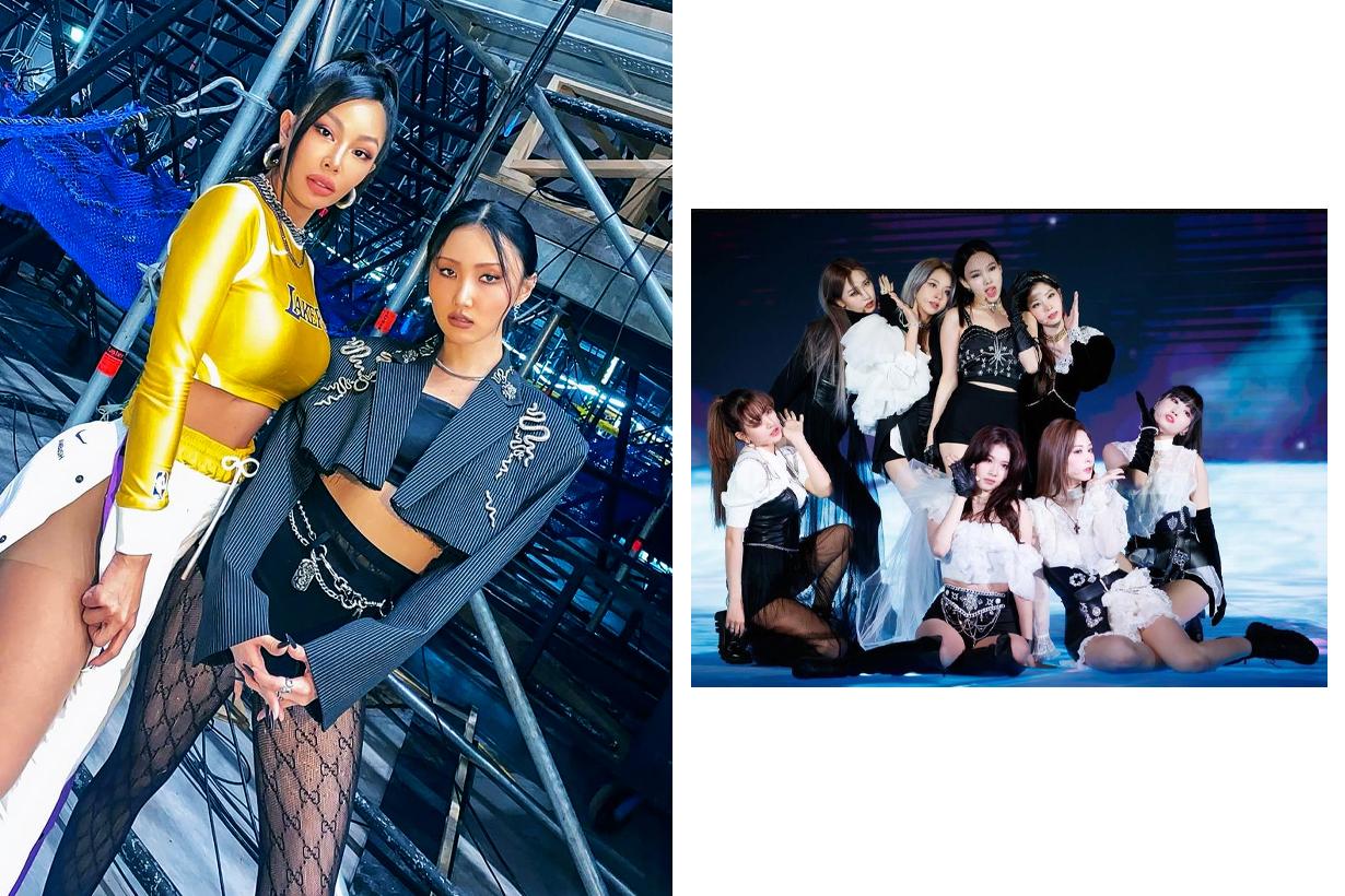 MAMA 2020 Mnet Asian Music Awards Korean idols celebrities singers girl bands boy bands disinfecting staff disinfecting girl on stage Covid-19 coronavirus