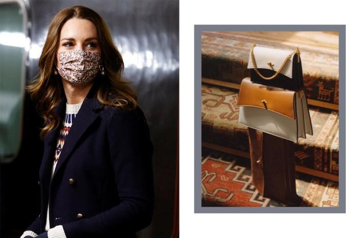 這個低調優雅的英國品牌,成為了凱特王妃的手袋新寵!