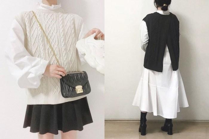 藏著時髦細節:GU 這一件針織背心,後開衩設計令日本女生大推!