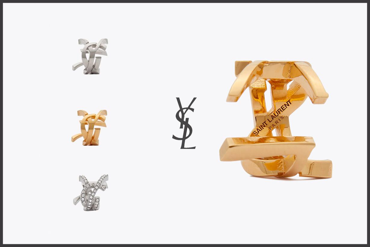 saint laurent monogram ear cuff ysl logo where buy