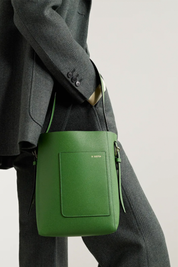 VALEXTRA Green Tote Bag