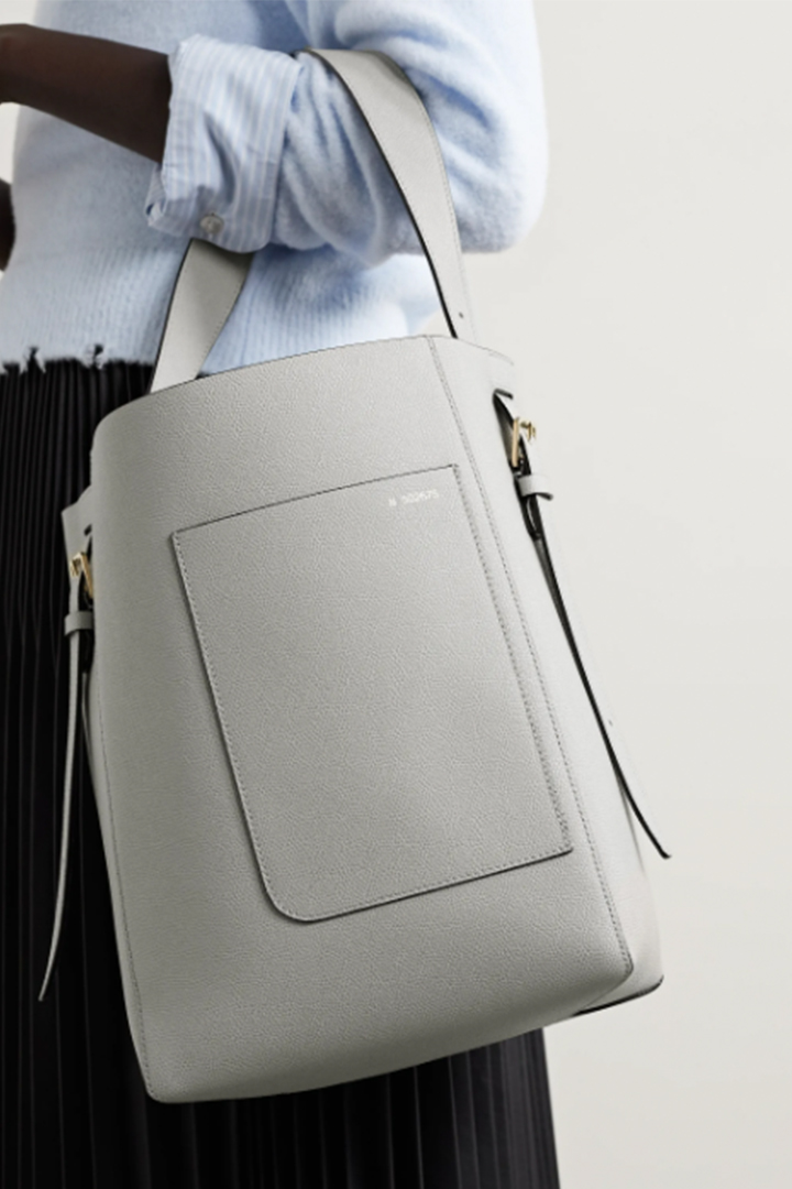 VALEXTRA Grey Tote Bag