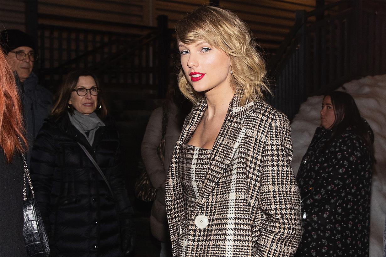Taylor Swift Wears Stella McCartney's Plaid Coats