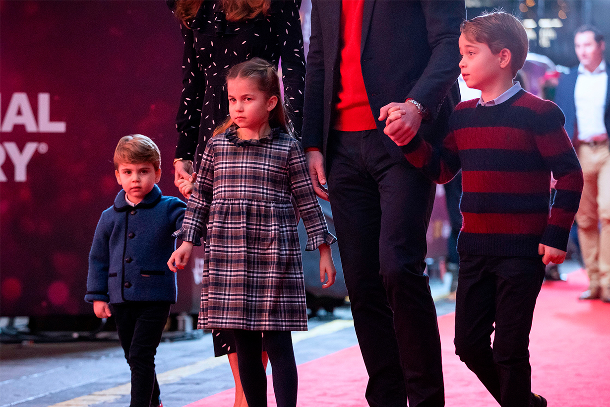 William and Kate take George, Charlotte and Louis on their first red carpet