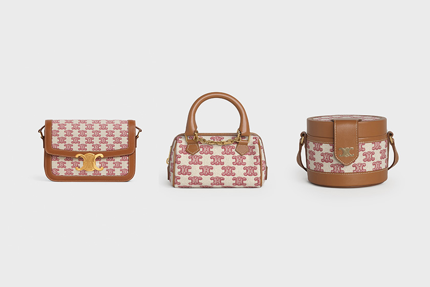 Celine Triomphe Vintage Pink New Year Collection