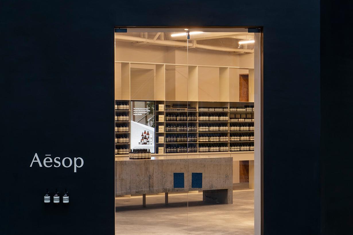 aesop zhongshan taipei 2021 concept store opening when
