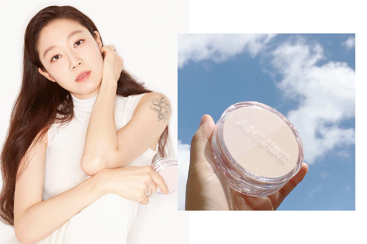 Kong Hyo Jin Amuse SKIN TUNE VEGAN COVER CUSHION SPF 45 PA++ Korean cosmetics makeup korean idols celebrities actresses