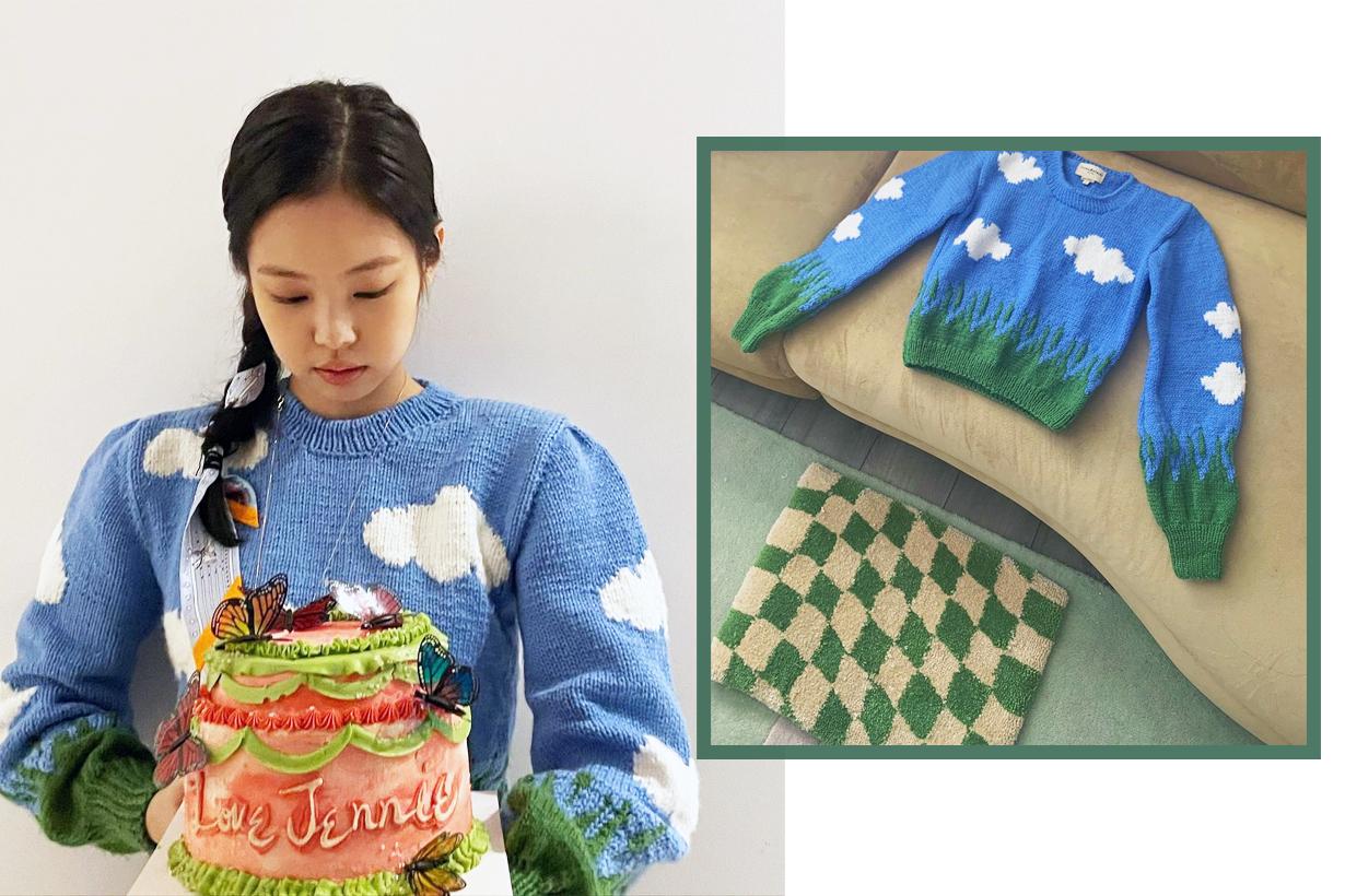 BLACKPINK Jennie Lisa Jisoo Rose Birthday Celebration Celebrities Styles Lirika Matoshi knitwear sweater