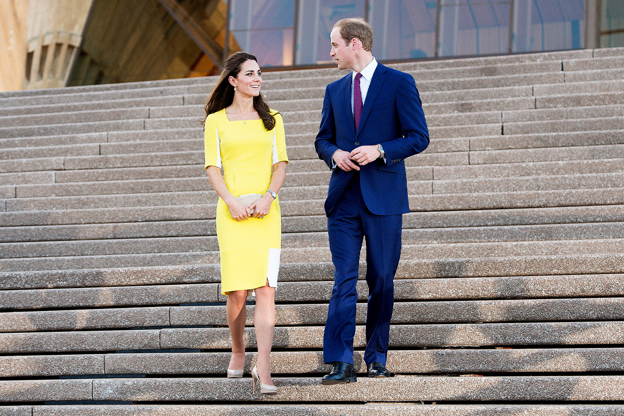 British Royal Family Royal Rules Royal Etiquette Going down stairs Kate Middleton Meghan Markle Queen Elizabeth II Princess Diana