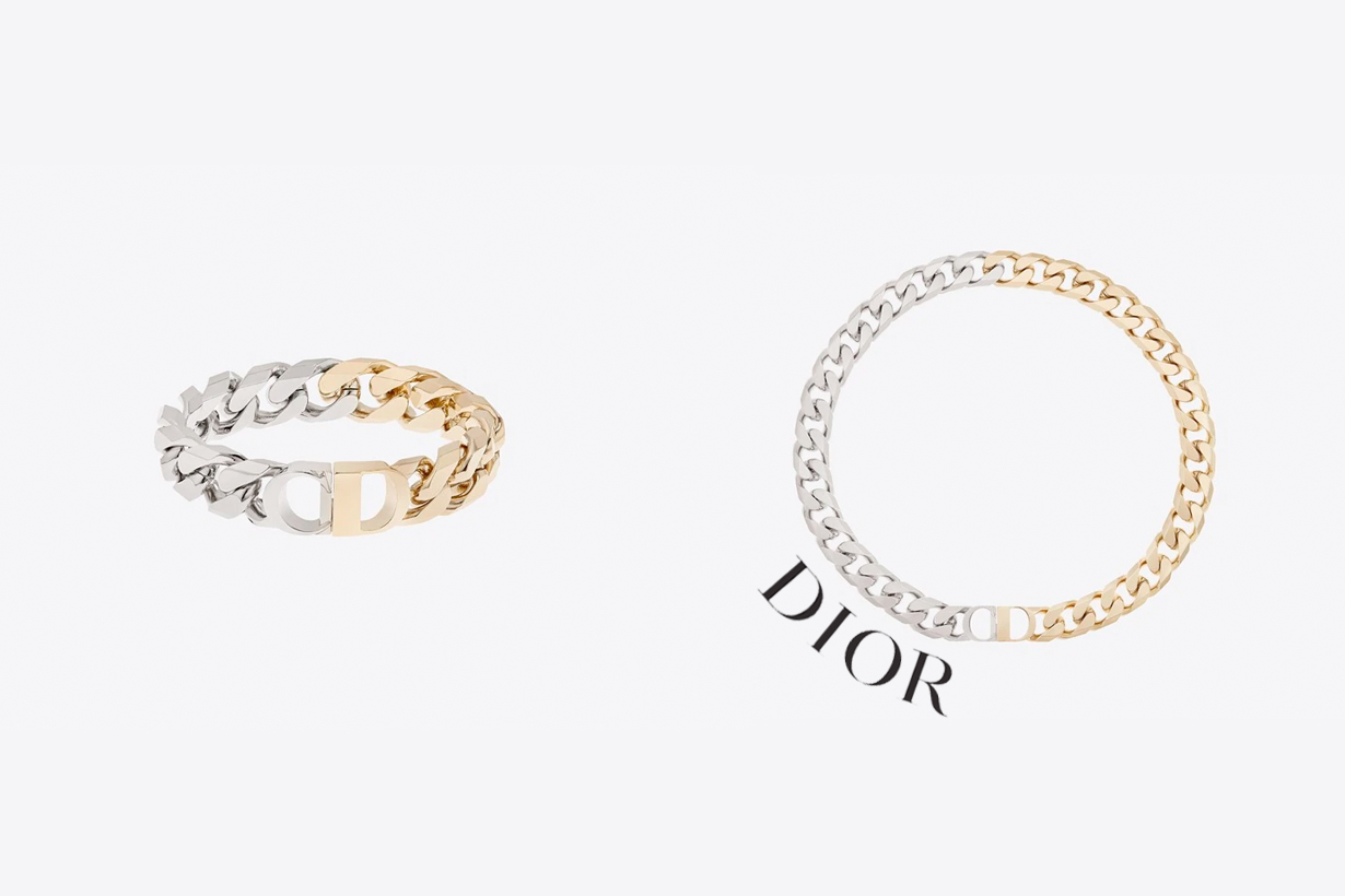 dior CD Icon gold sliver two color jewelry men women