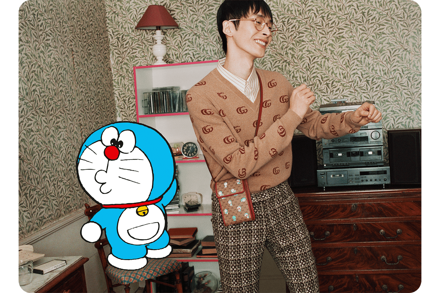 doraemon gucci collaboration collection lunar chinese new year campaign handbags phone cases sneakers release