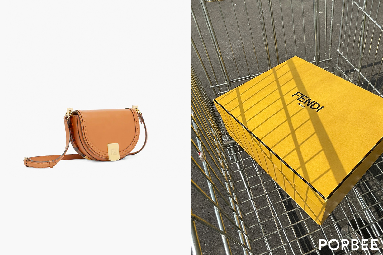 fendi moonlight sunshine unboxing online shop taiwan handbags 2021