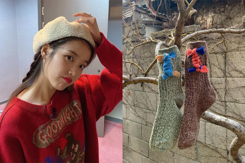 IU knit socks korean brand MISU A BARBE