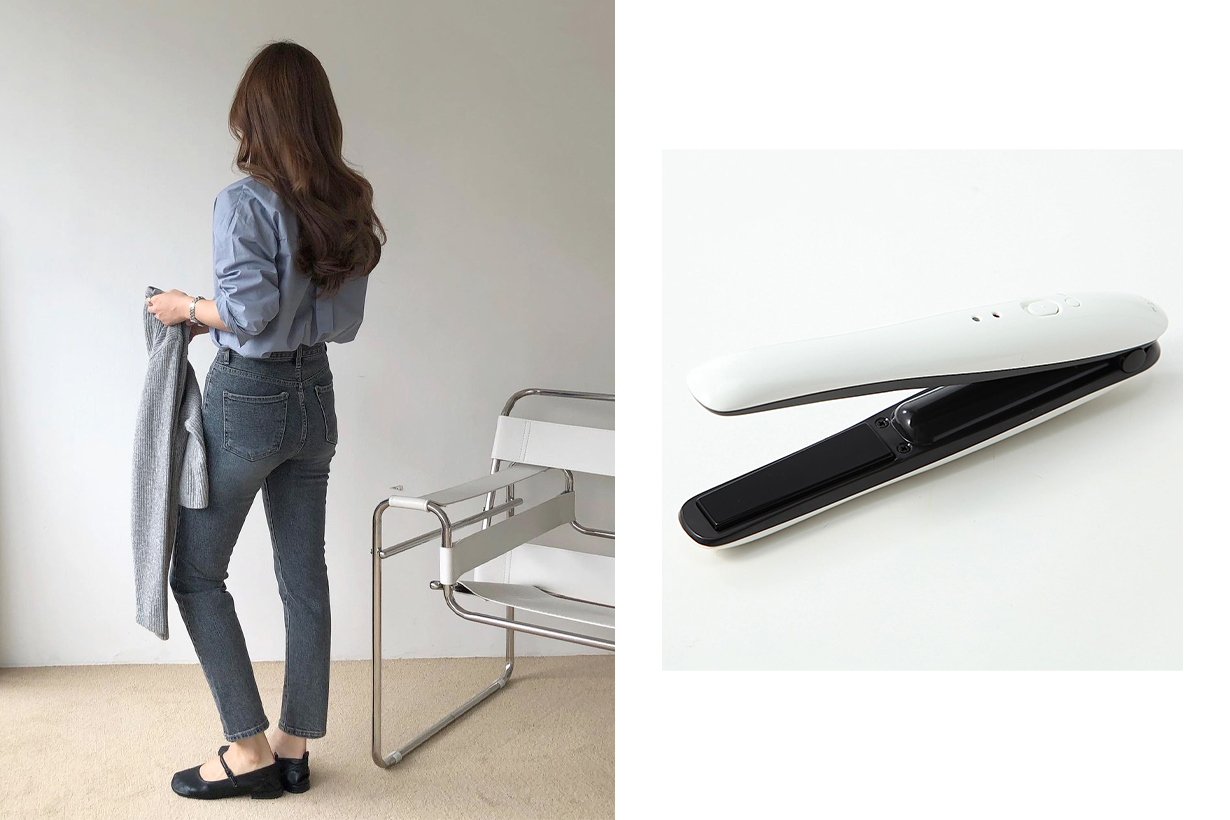 Japan Muji Cordless straight curling iron for travel  Hair Tongs Hair Straightener Hair Tools Hairstyles Hair Styling