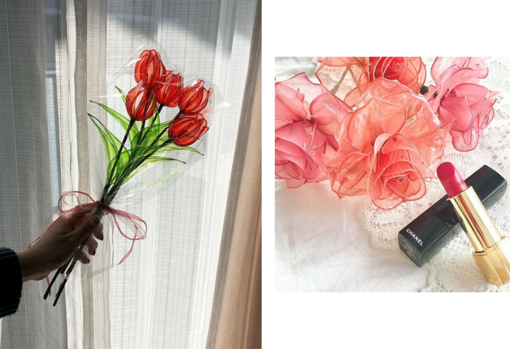 japanese instagram hit uv dip art wire flowers home decor