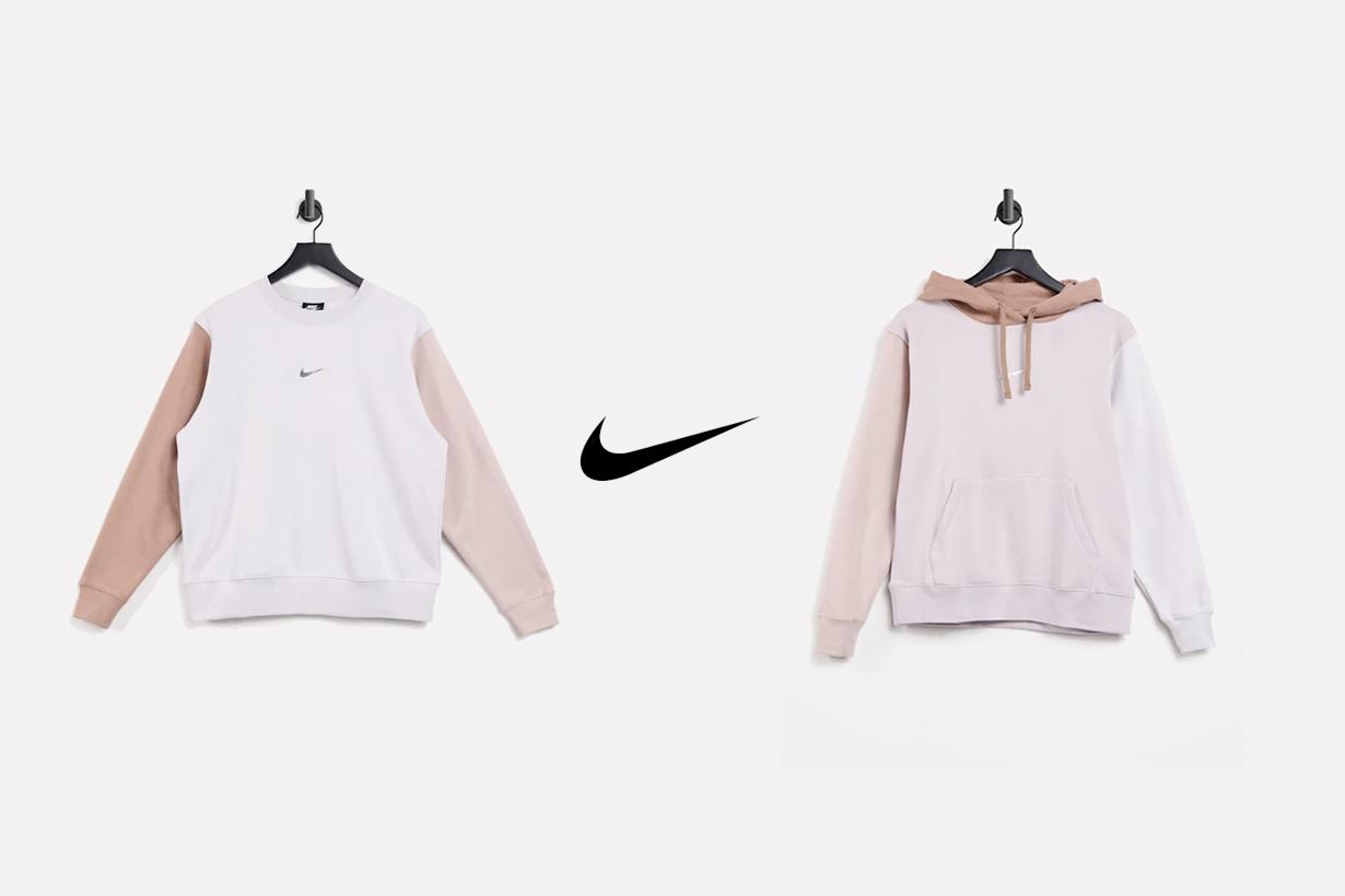 nike pink sweatshirt sweatpants hoodie comfy effortless chic