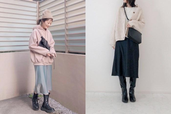 優雅質感:UNIQLO 新品區遺珠,神修飾腿型的緞面寬襬裙!