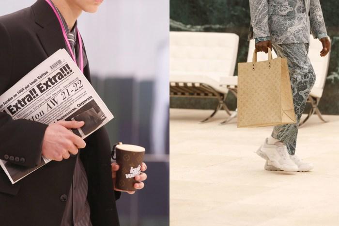把日常變成手袋:Louis Vuitton 21 秋冬男裝的報紙、咖啡杯… 有亮點!