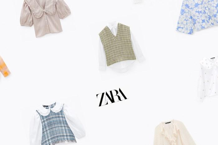 大翻領、花刺繡… ZARA 春季 10 件必敗襯衫,散發復古時髦味!