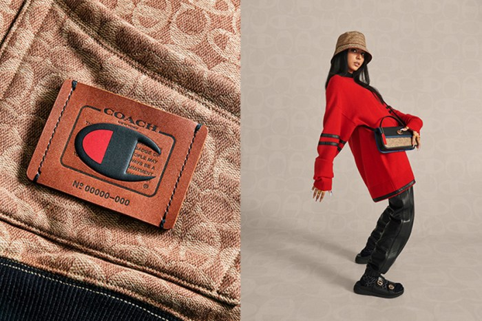 又一個驚喜聯名登場:Coach 與 Champion 合作推出的手袋、服裝已讓人迫不急待!