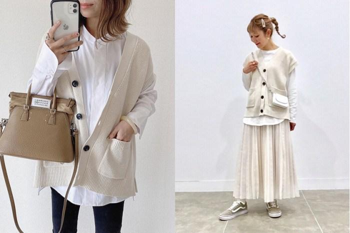 剛推出就默默被日本女生收藏:GU 寬鬆感針織背心,是你春日穿搭的必備單品!