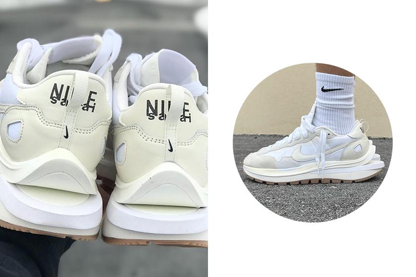 sacai x Nike Vaporwaffle Sail White Sneakers