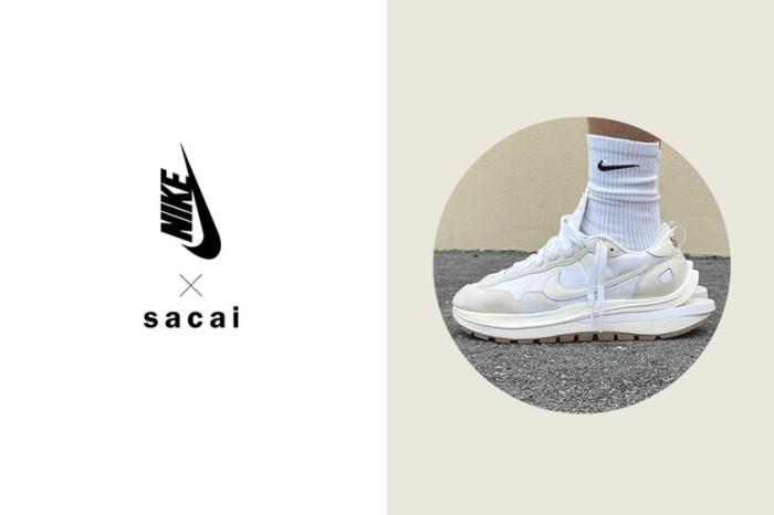 實鞋樣貌曝光:Nike x sacai 聯名 Vaporwaffle 新配色純白質感讓人難以招架!