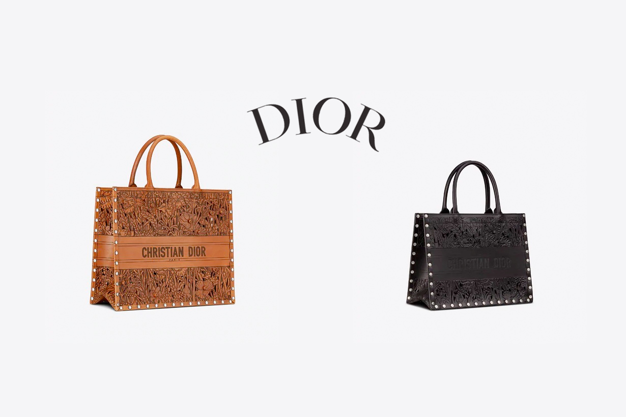 dior book tote leather Tooled 2021 new handbags