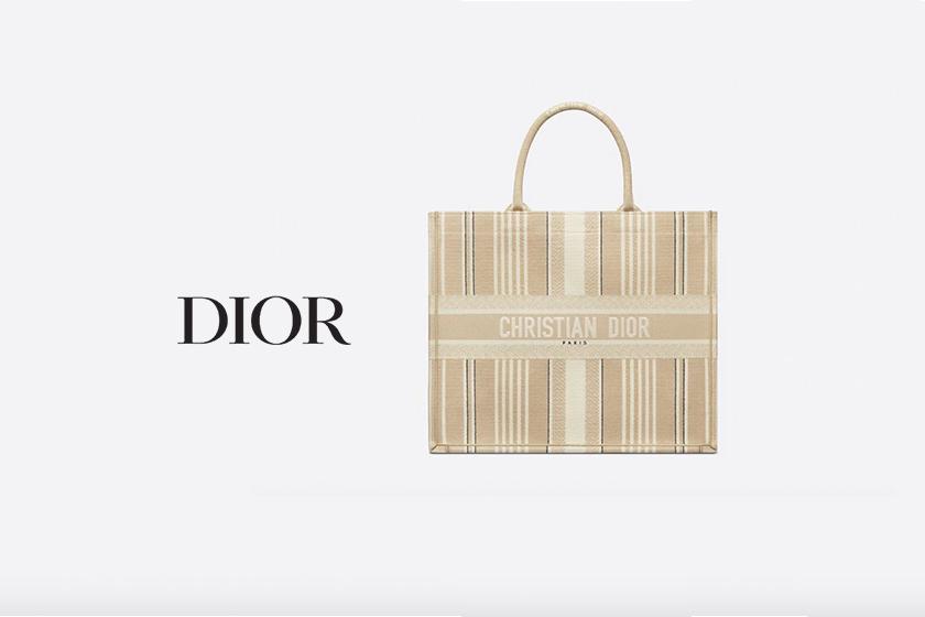 Dior SS21 oat color book tote