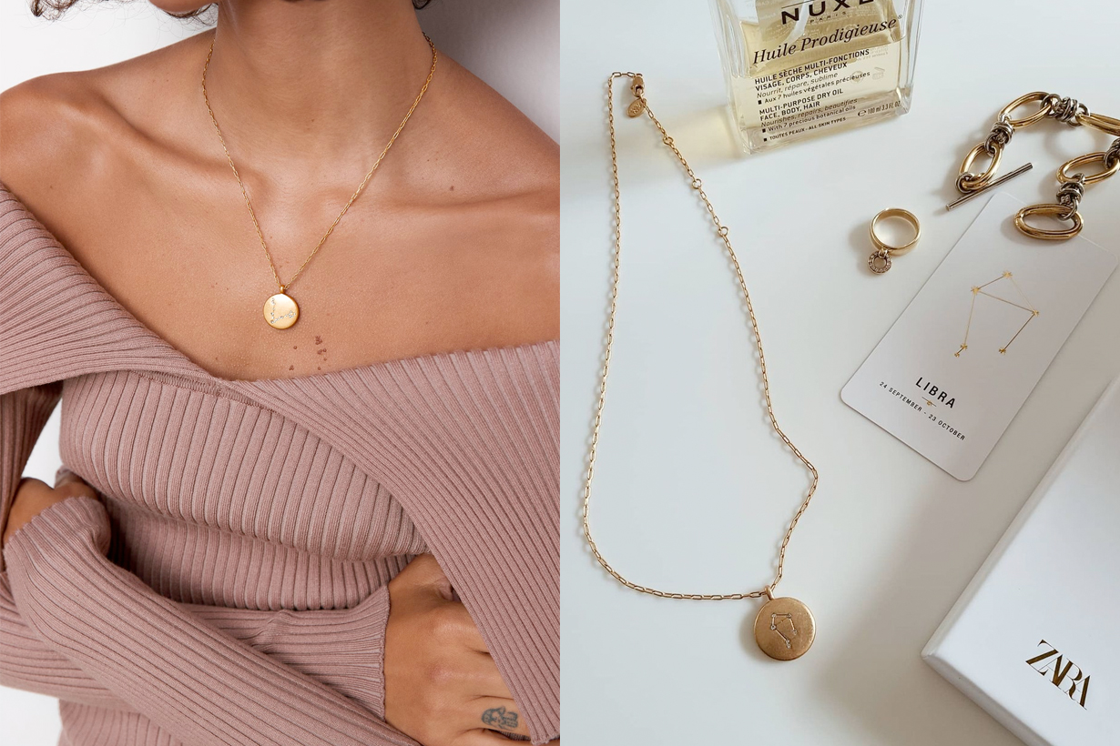 zara Horoscope necklace brooch Collection 2021 acc