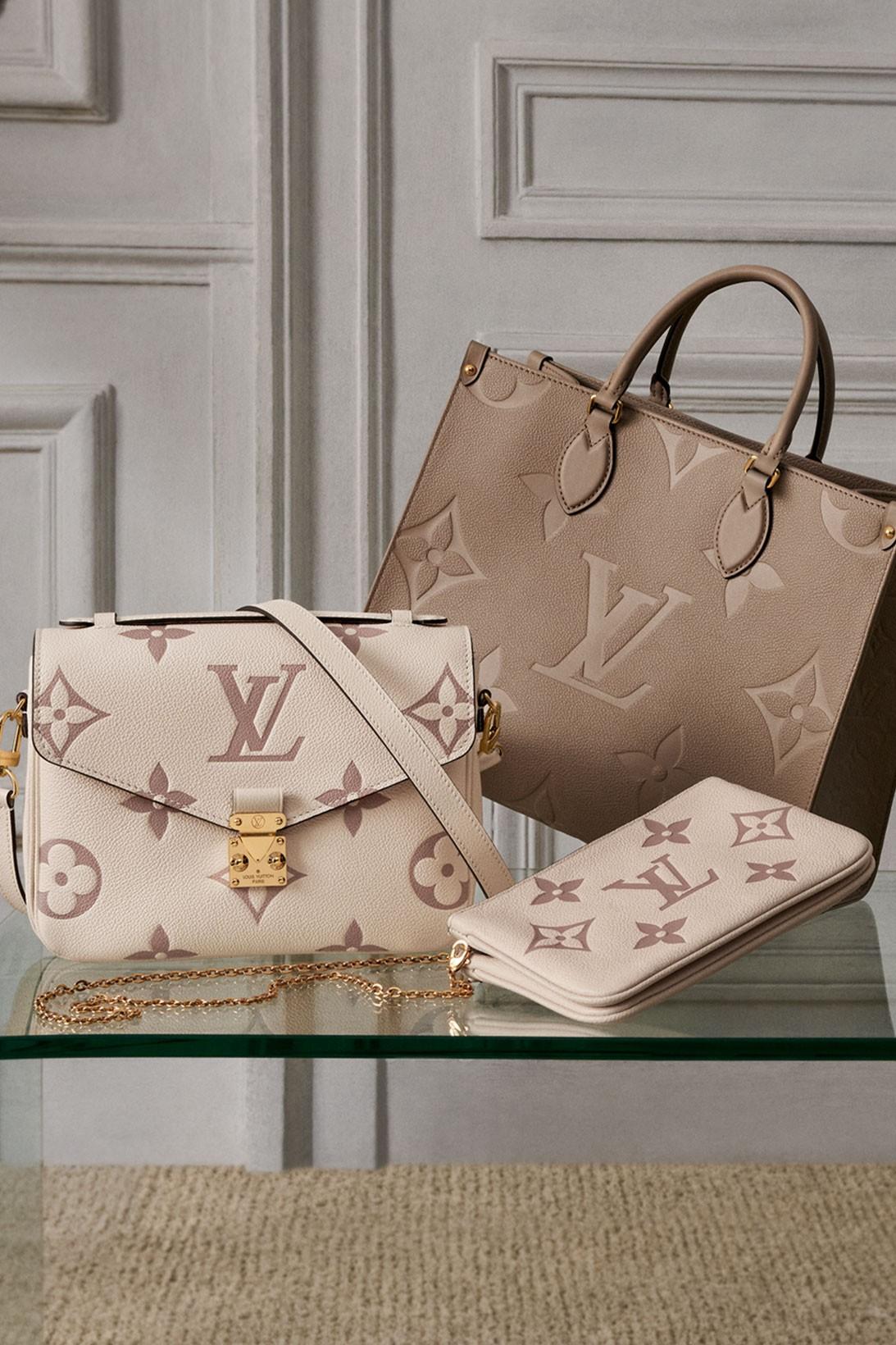 Louis vuitton monogram empreinte vanity onthego mm handbags 2021 spring summer release