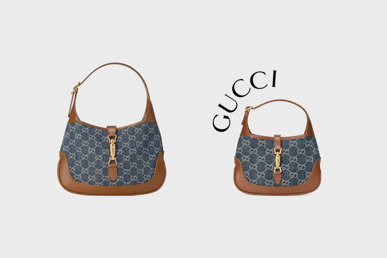 gucci jackie 1961 denim new handbags eco friendly fashion 2021