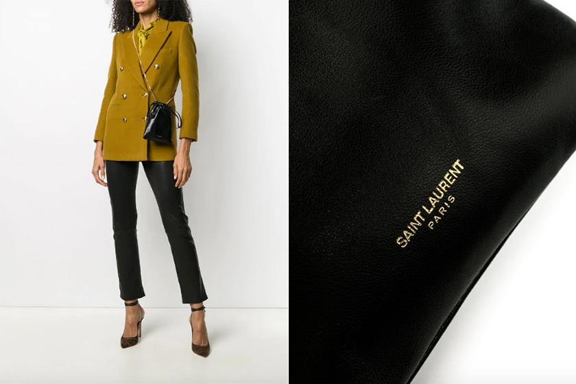 Saint Laurent handbags small Paris drawstring bag