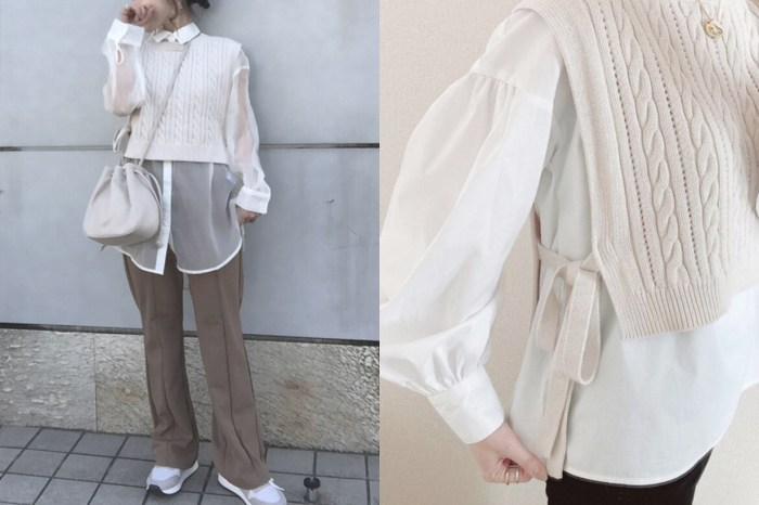 超修飾身材:GU 側綁帶背心,優雅短版設計令日本女生包色!