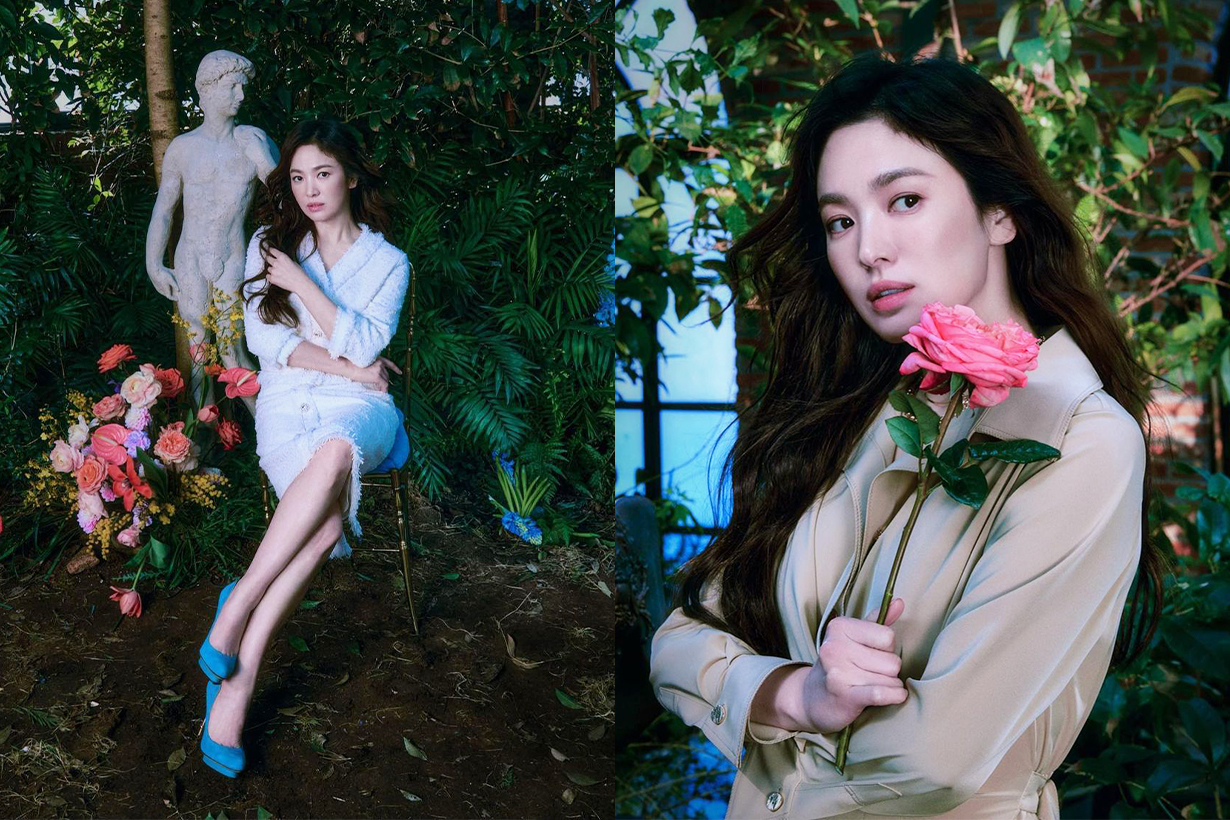 Song Hye Kyo Michaa 2021 Spring Collection Advertorial Shooting 2021 Spring Fashion Trends korean idols celebrities actresses