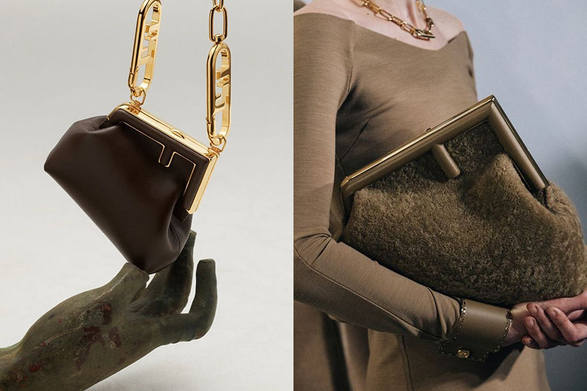 初登場:融入經典元素與典雅面料,Fendi 秋冬系列中最受矚目的手袋是它!
