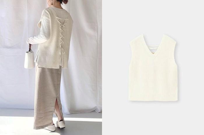 春日穿搭必入手的平價好物:GU 這件後綁帶設計背心讓日本女生一見傾心!