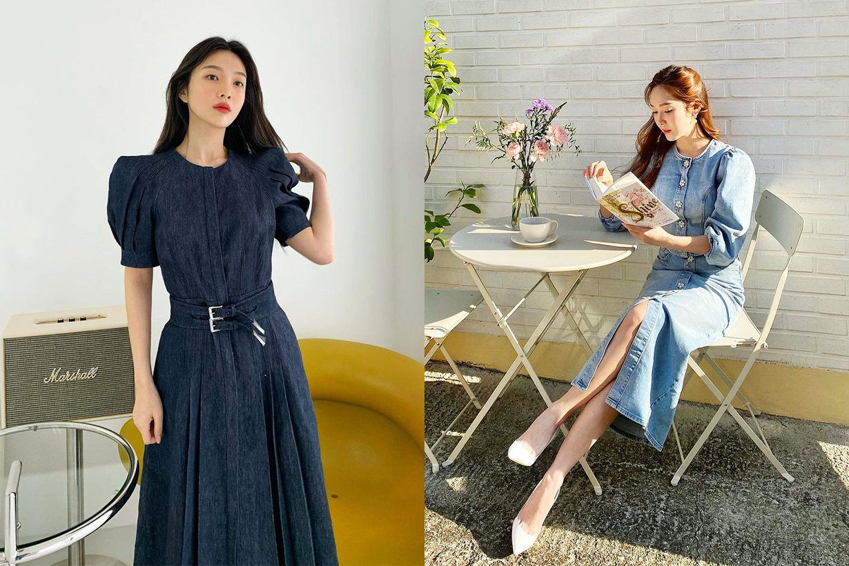 2021 Spring Summer Fashion Trends Denim Style korean idols celebrities singers blackpink jennie Red Velvet Joy Jessica Jung Lee Ju Yeon NANA Lim Suzy Bae