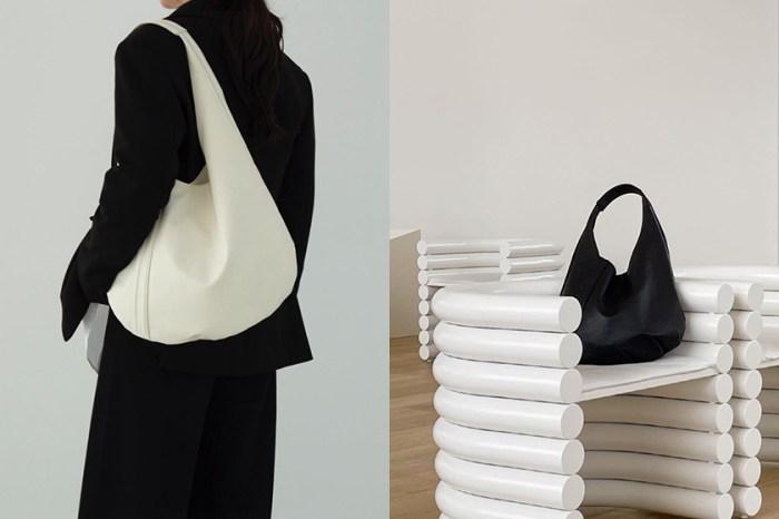 小眾極簡:韓國女生迷上,這一款兩色俐落美 Egg Bag 單肩包!