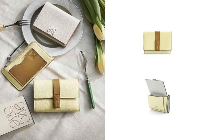 一抹淡雅:Loewe 人氣銀包再推新色,被稱為最有質感的仙氣款!