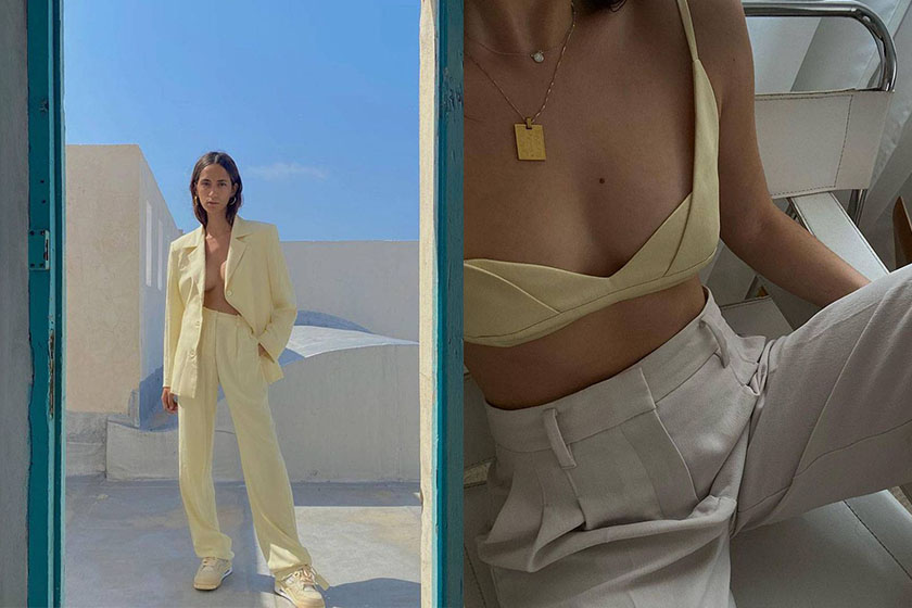 pale yellow 2021 fashion trend fashion bloggers