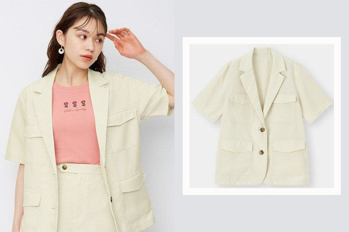 夏天也可以穿出端莊感!GU 這件短袖西裝外套值得馬上放進購物車!