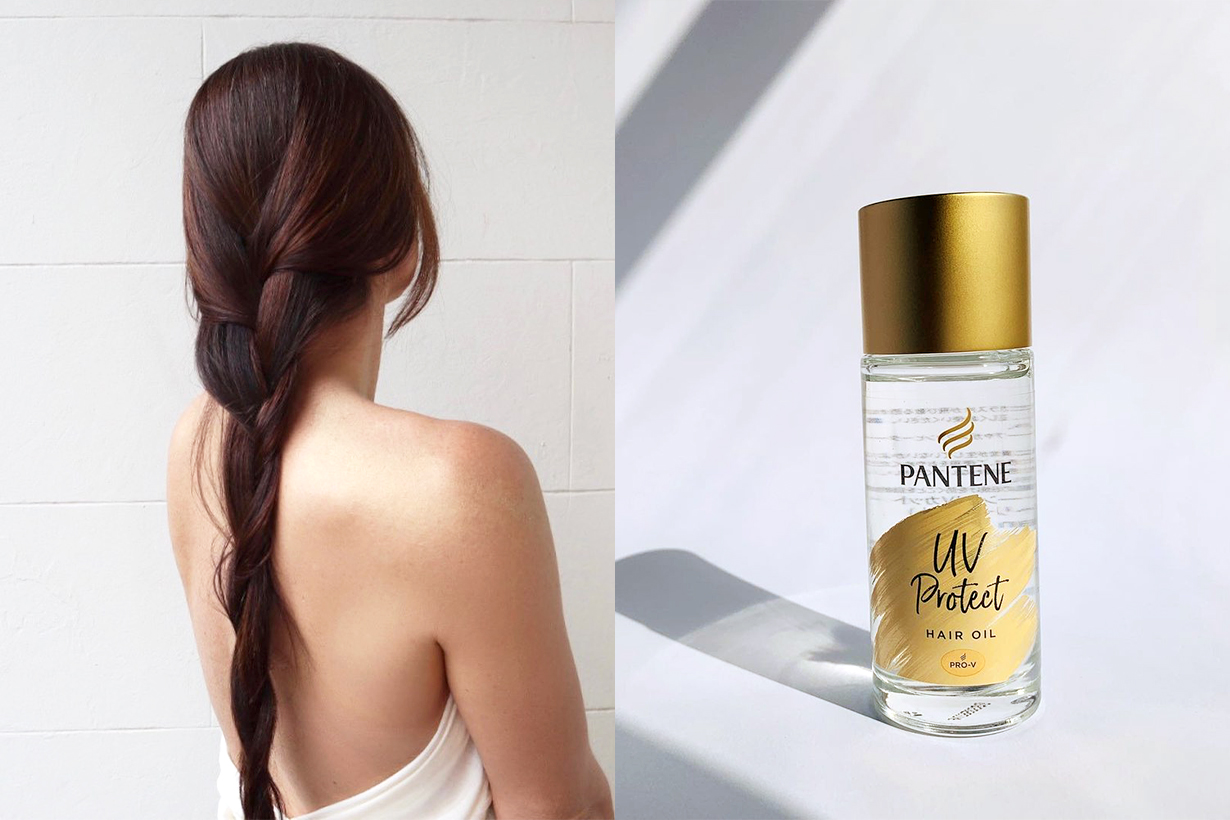 Hair Care Products Japanese Girls Pantene Pro V UV Protect Hair Oil MIEUFA Hair and Skin SPF 50 Spray LILAY Wrap Mist