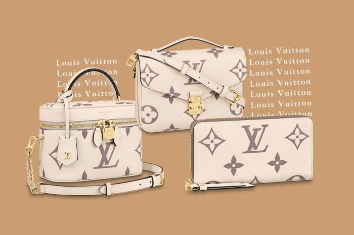 百搭度 100 分!奶油色調的 Louis Vuitton Empreinte 手袋讓造型帶著滿滿的時尚感
